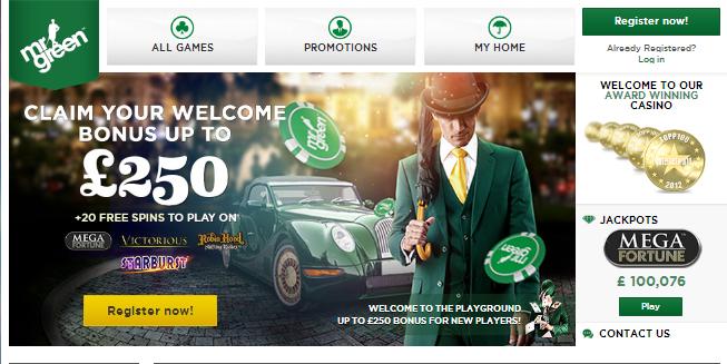 Luotettava ja laadukas Mr Green casino Arvostelu